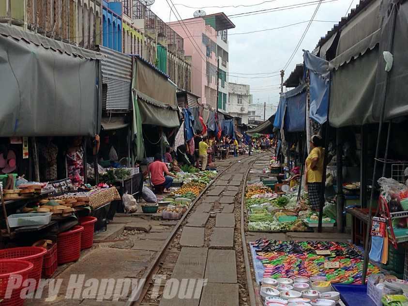 Mae Klong Train Market
