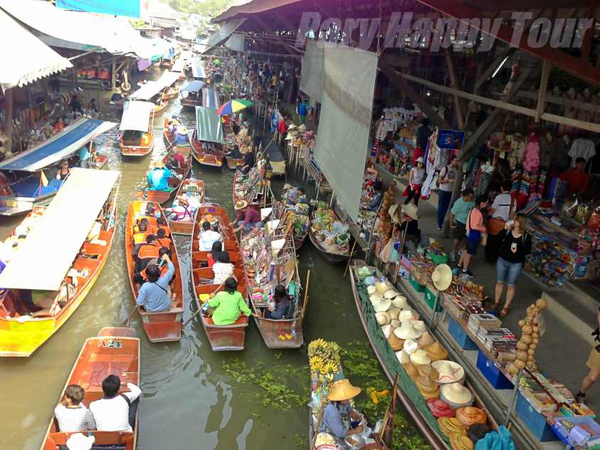 Tha Ka and Damneon Saduak Floating Market (Half Day)